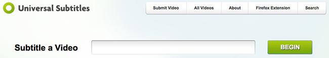 Universal Subtitles Site