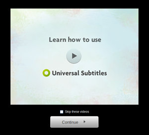 the how-to video on the subtitle interface