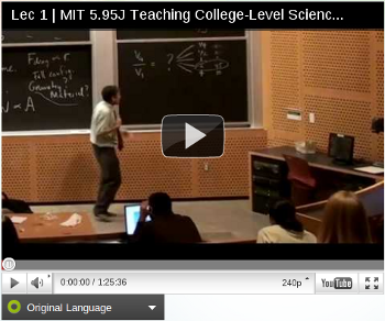 Screenshot of lecture video with universal subtitles enabled