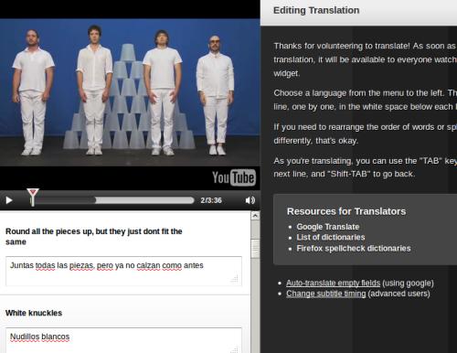 translation interface