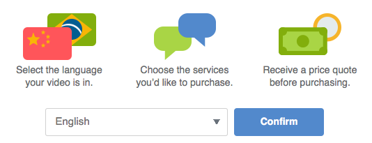 First screen of Vimeo purchase flow