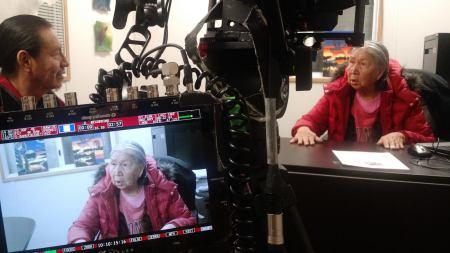 Stoney Language Elder interviews at Paul First Nation, with Jerry Rain at Paul First Nation.