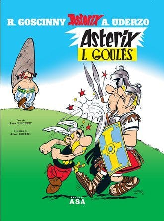 Comic cover for Asterix in Mirandese
